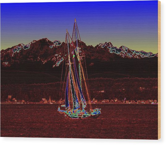 Sound Sailin 4 Wood Print