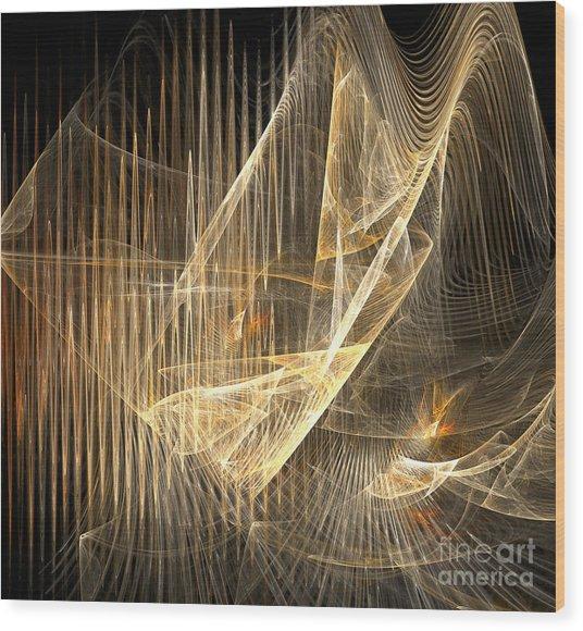 Sound Waves In 3d Wood Print