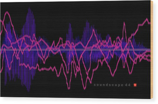 Soundscape 44 Wood Print