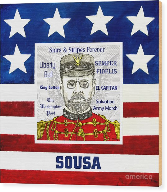 Sousa Wood Print by Paul Helm