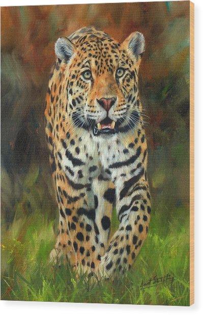 South American Jaguar Wood Print