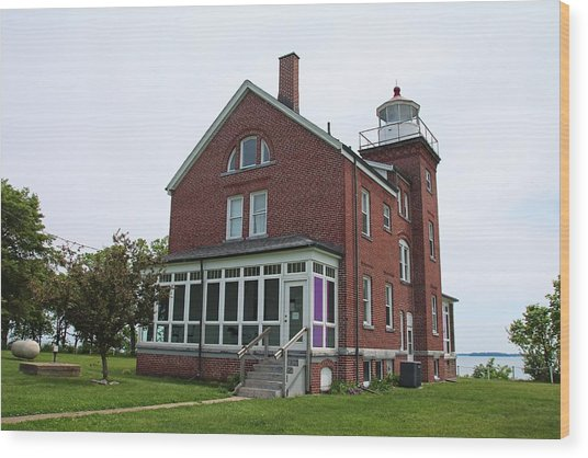 South Bass Island Lighthouse- Horizontal Wood Print