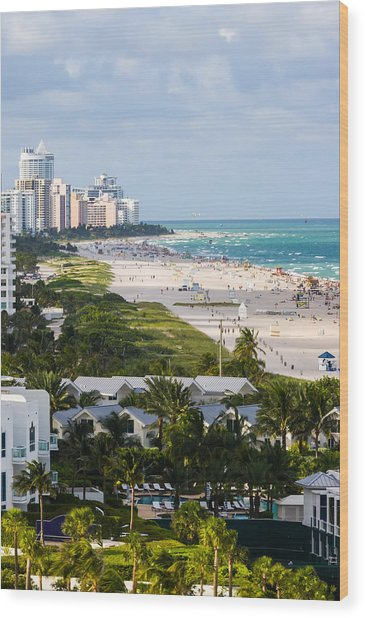 South Beach Late Afternoon Wood Print
