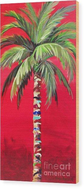 South Beach Palm II Wood Print