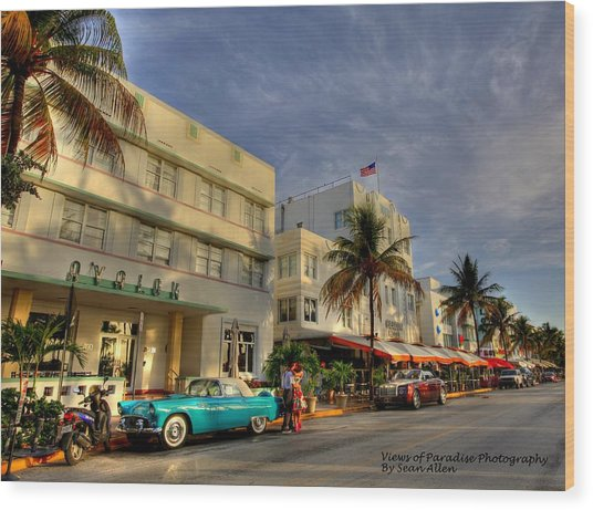 South Beach Park Central Hotel Wood Print