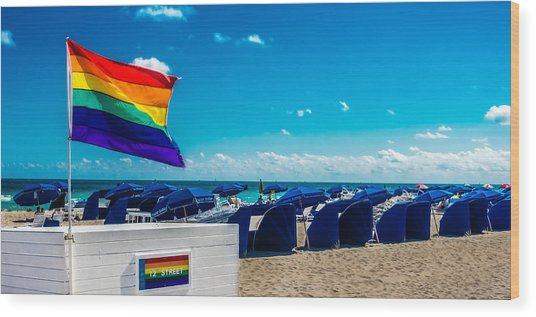 South Beach Pride Wood Print