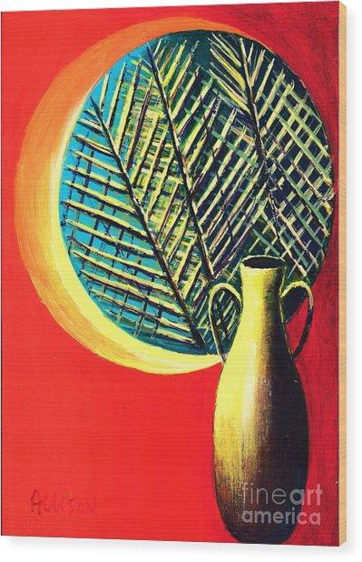 South Beach Window  Wood Print