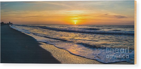South Carolina Sunrise Wood Print