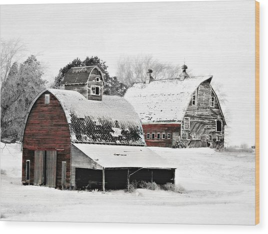 South Dakota Farm Wood Print