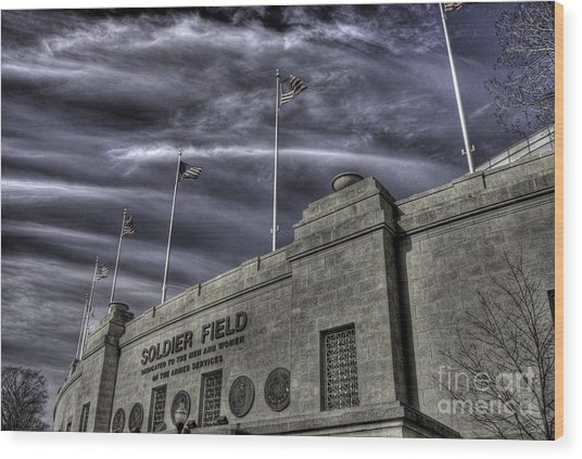 South End Soldier Field Wood Print