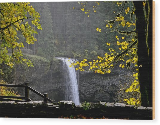 South Falls Of Silver Creek Wood Print