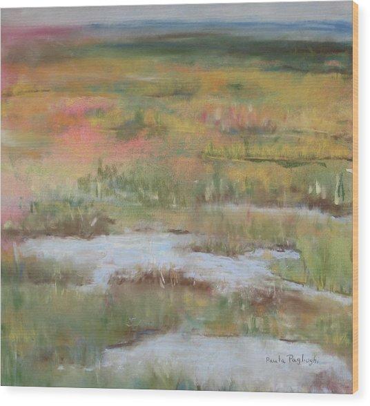 South Jersey Marsh Wood Print