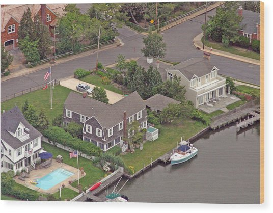 South Lagoon House Mantoloking New Jersey Wood Print