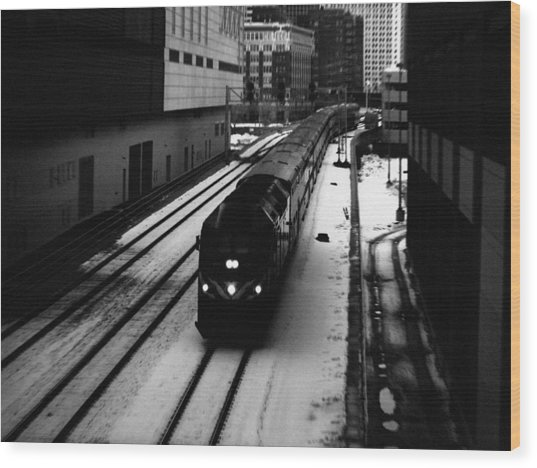 South Loop Railroad Wood Print