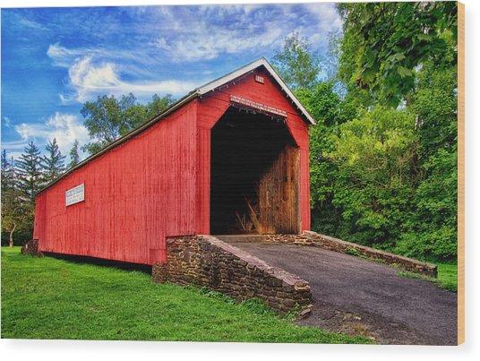South Perkasie Covered Bridge Wood Print