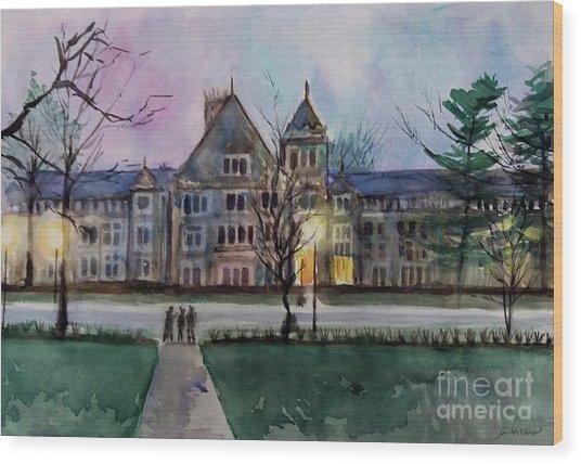 South University Avenue 2 Wood Print