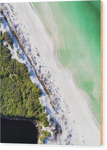 South Walton Dune Barrier Aerial Wood Print