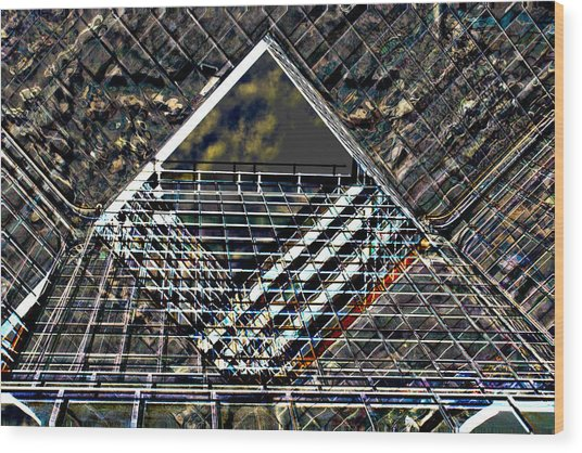 Southbank London Abstract Wood Print