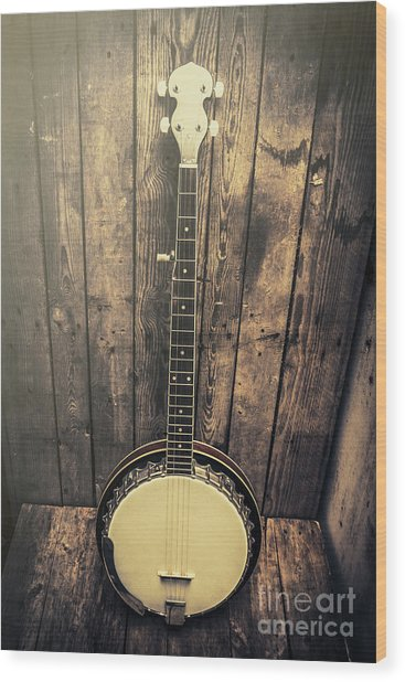 Southern Bluegrass Music Wood Print