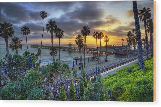 Southern California Sunset Wood Print