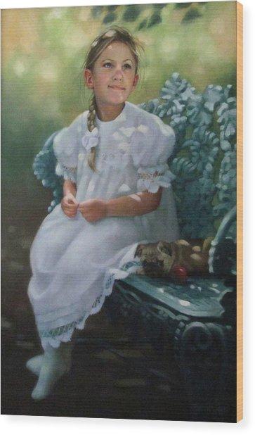 Southern Girl Portrait Wood Print
