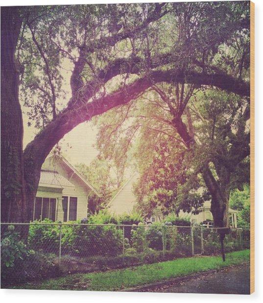 Southern Home #house  #coastalbeauty Wood Print