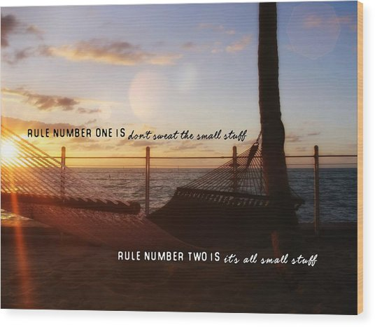 Southernmost Quote Wood Print by JAMART Photography