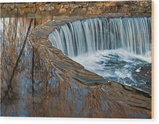 Southford Falls Wood Print