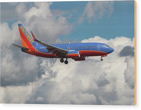 Southwest Airlines Boeing 737-700 Wood Print