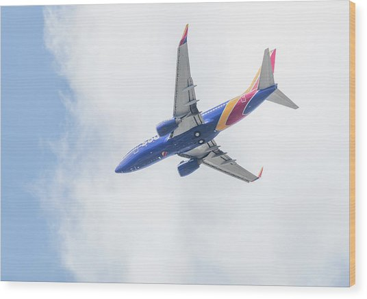 Southwest Airlines With A Heart Wood Print