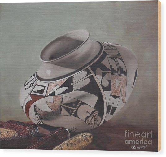 Southwest Indian Pot Wood Print