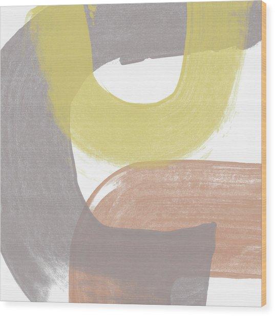Southwest Modern Brushstrokes 2- Abstract Art By Linda Woods Wood Print