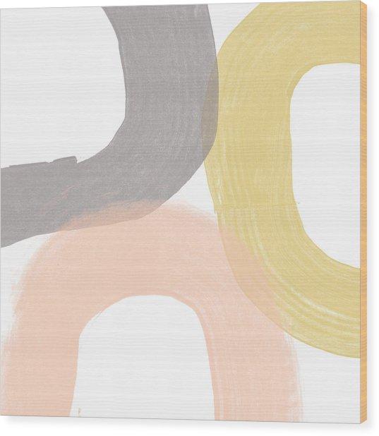 Southwest Modern Brushstrokes - Abstract Art By Linda Woods Wood Print