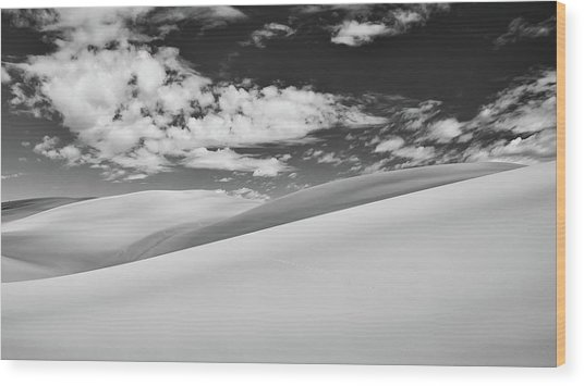Southwest Sands Of Colorado In Black And White Wood Print