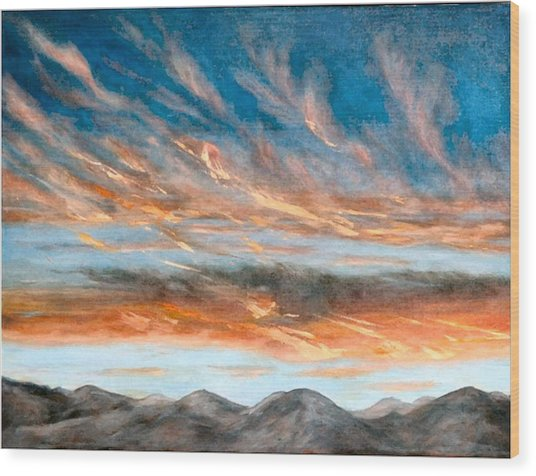 Southwest Sunset Wood Print by Merle Blair