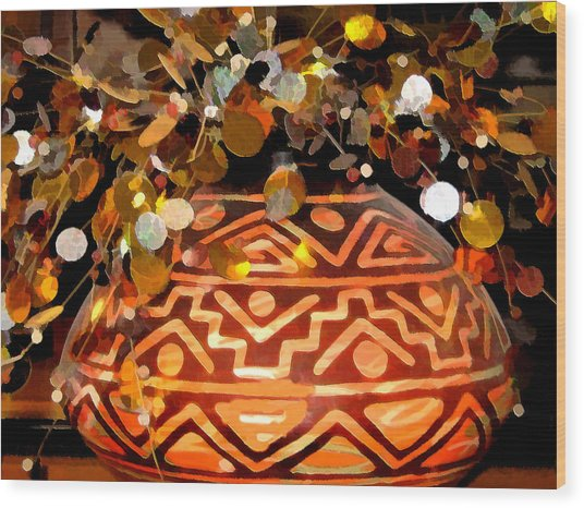 Southwest Vase Art Wood Print