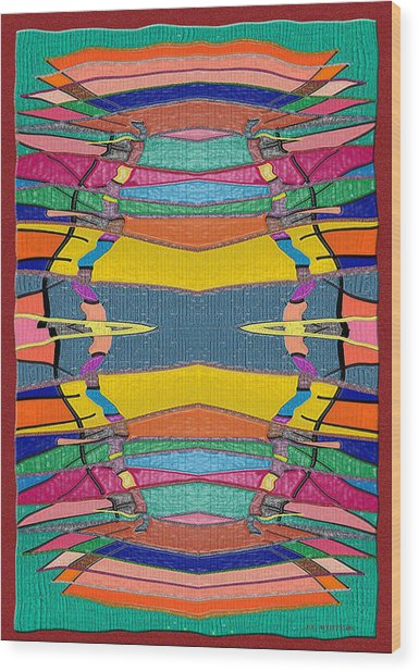 Southwestern Rug Wood Print by Jerry White