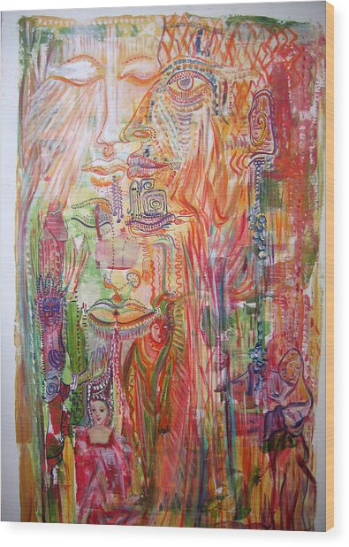 Souvenirs Wood Print by Helene  Champaloux-Saraswati