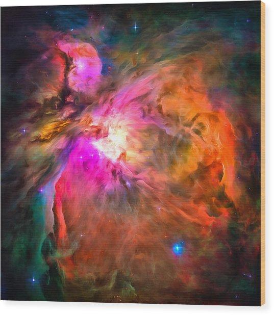 Space Image Orion Nebula Wood Print