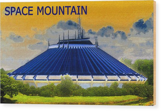 Space Mountain Wood Print