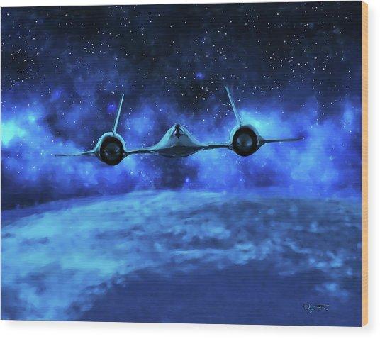Spaceward Wood Print