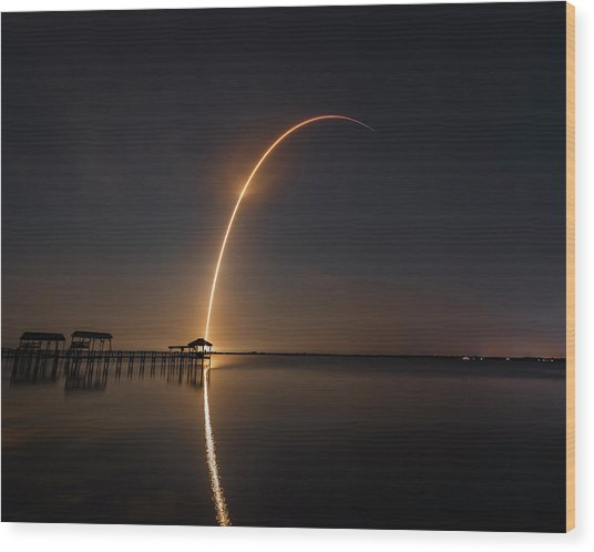 Spacex Falcon 9 Wood Print
