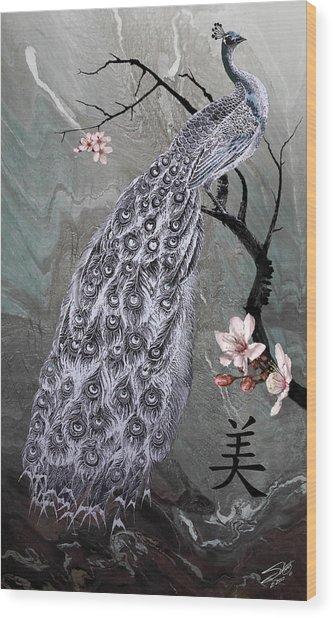 Spades Peacock Wood Print
