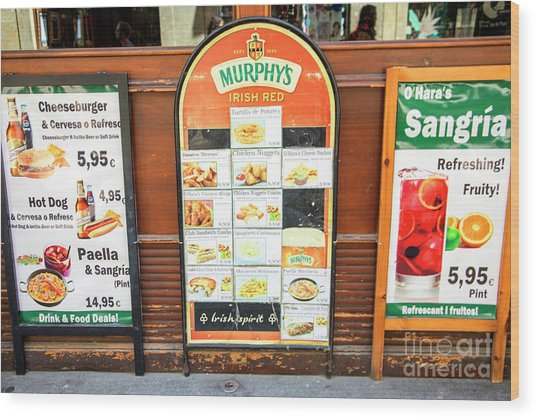 Spain Sangria Murphys Wood Print