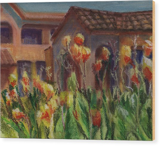 Spanish Abode Wood Print by Patricia Halstead
