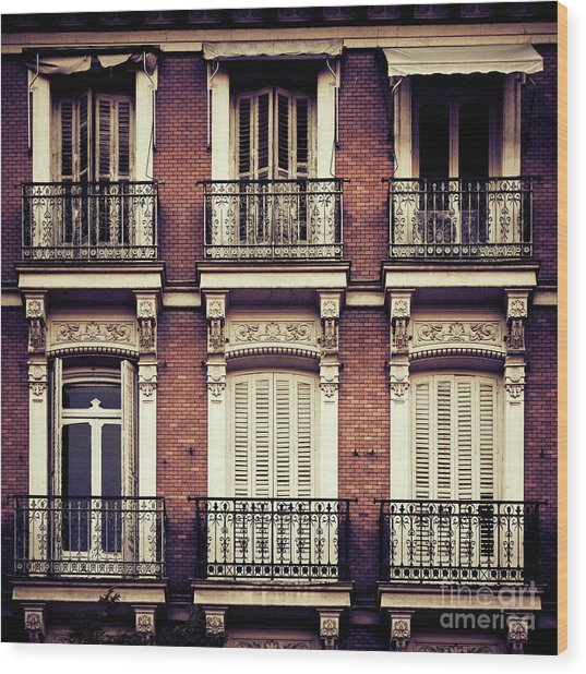 Spanish Balconies Wood Print