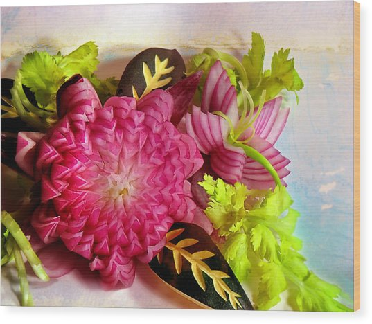 Spanish Flowers Wood Print
