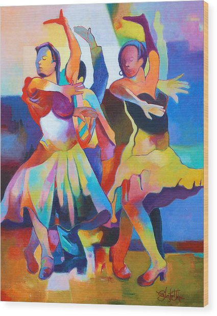 Spanish Harlem Dance Wood Print