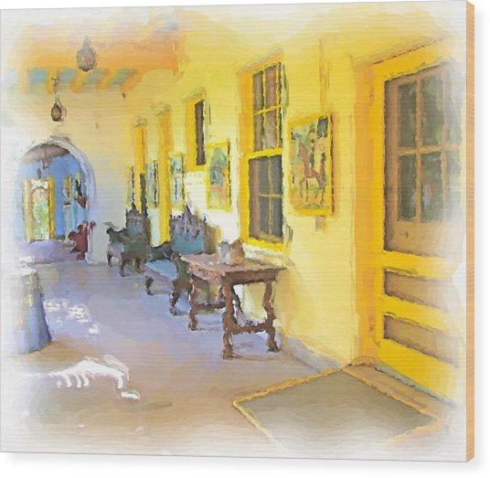 Spanish House Wood Print by Ralph Liebstein