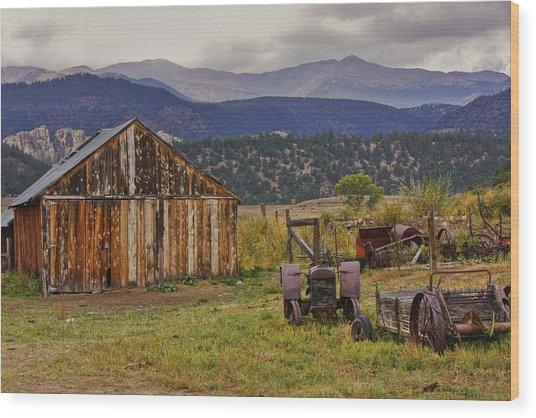 Spanish Peaks Ranch 2 Wood Print
